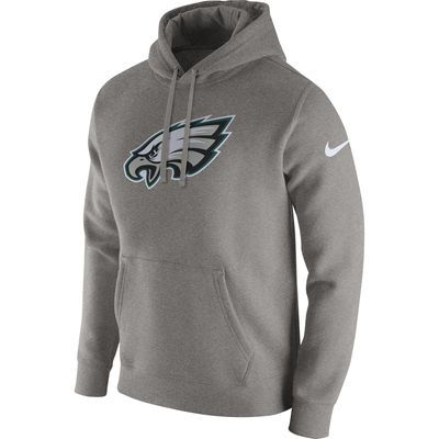 Men s Philadelphia Eagles Nike Heathered Gray Club Fleece Pullover Hoodie 99a26774b