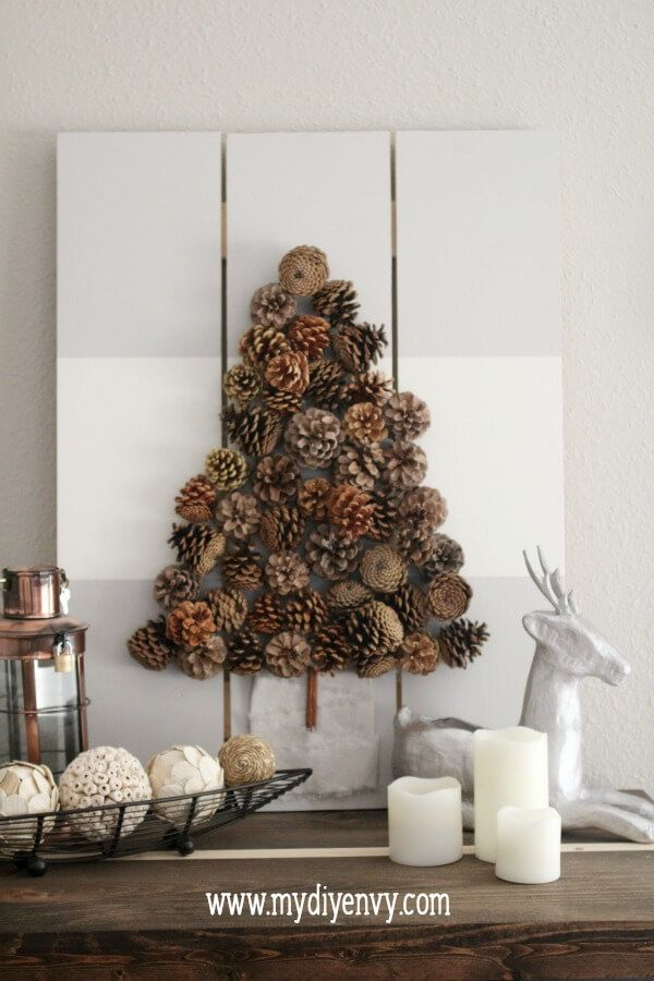 Get Inspired With 11 Big And Small Christmas Tree Ideas Wall Christmas Tree Christmas Wall Art Christmas Tree Art