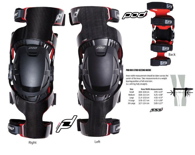 0a947616d7 Pod MX K700 Knee Brace (Pair) (Distributed by Fox) | Protective Gear ...