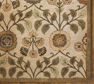 PB Leaf Floral Rug