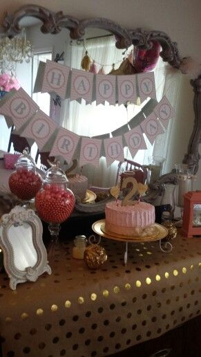 Pink and gold party. Decor by Tara Nead-Pinon.