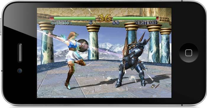SoulCalibur is a 3D, weapons-based fighting game developed by Project Soul and produced by Namco. Today, it is available for iPhone and iPad.