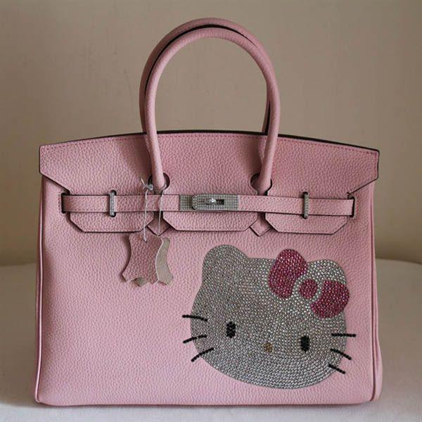Birkin Hello Kitty Togo Leather Bag Pink  f3a5c95b46188