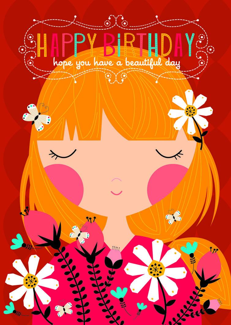 Beautiful Girl Birthday Card Verjaardag Birthday Pinterest
