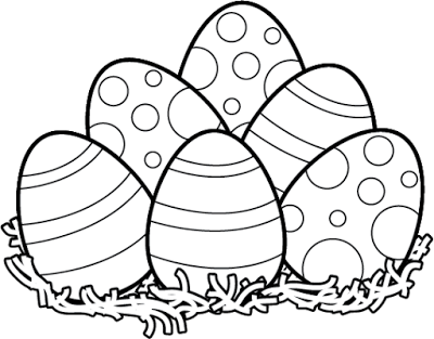 Easter Clipart Black And White Easter Bunny Eggs Easter
