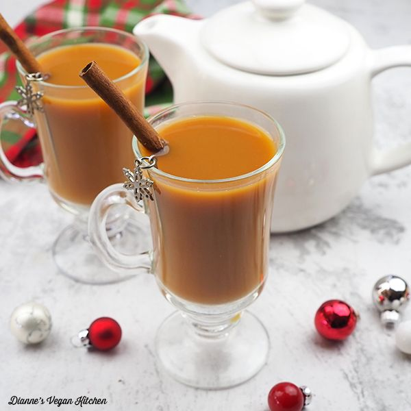 Warm Up With A Mug Of Hot Non-dairy Gingerbread Tea Latte