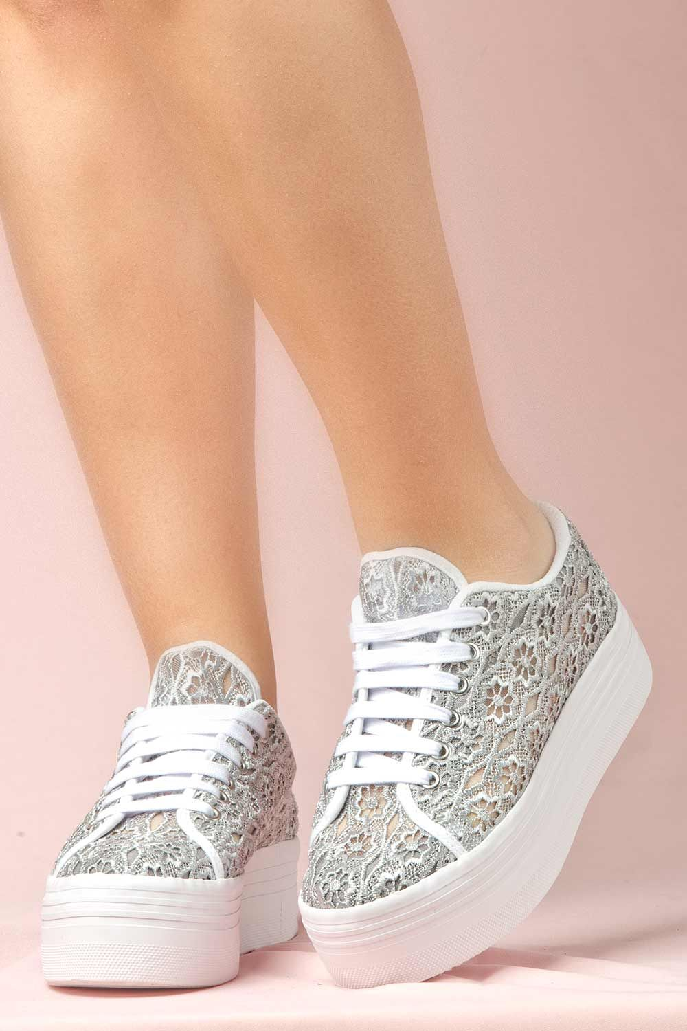 44f71aa8542 JEFFREY CAMPBELL SNEAKERS - ZOMG LACE DARK GREY