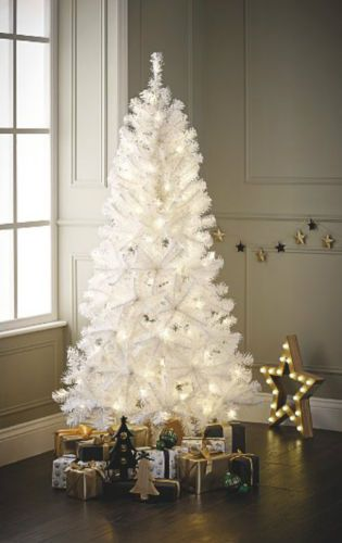 Artificial Christmas Tree White 4ft 5ft 6ft Indooroutdoor Xmas