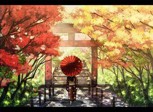 二次元 秋の風景と女の子 の画像イラスト 壁紙 Naver まとめ Anime Scenery Anime Artwork Animation Art