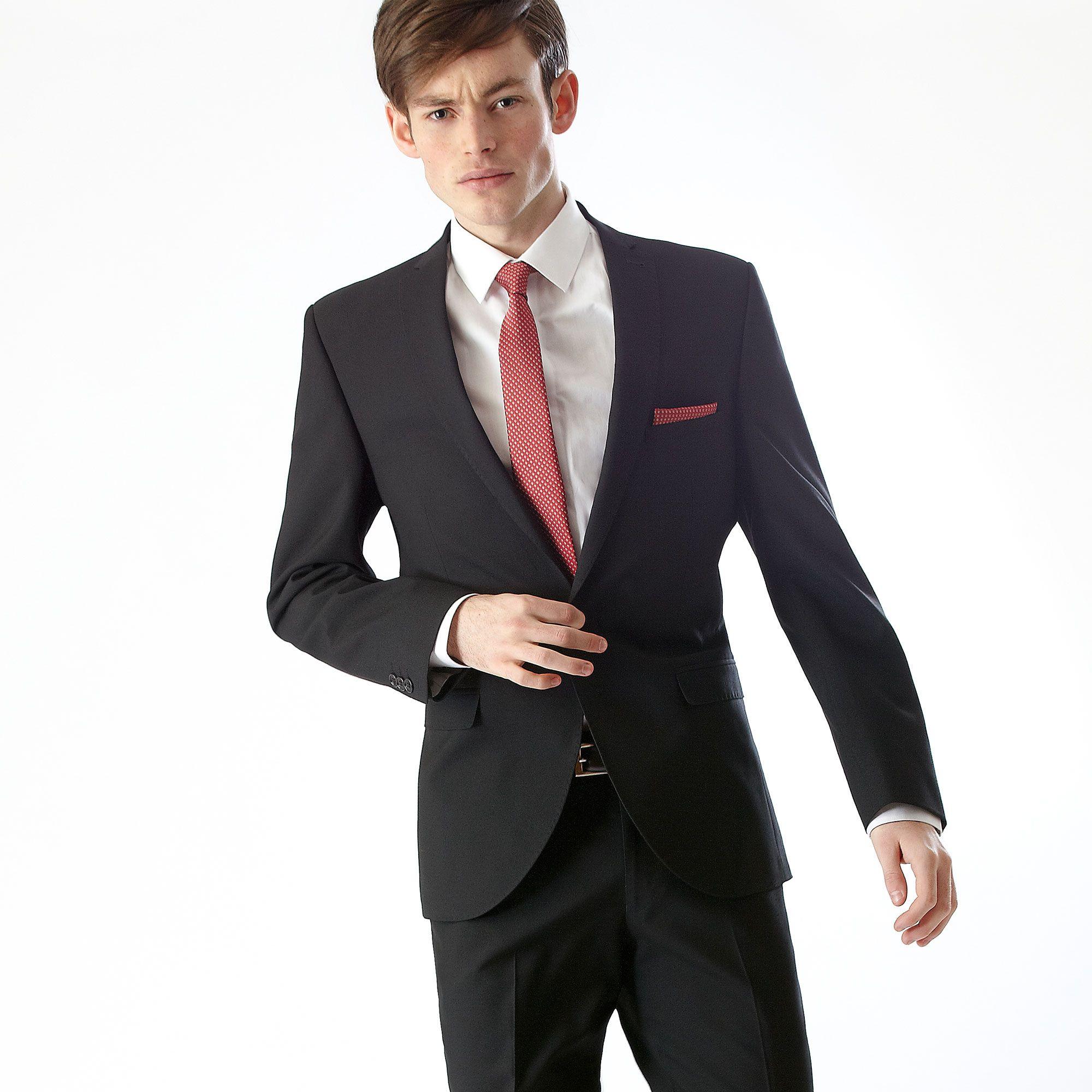 Black Slim Fit Prom Suit | Clothes | Pinterest | Men's suits ...