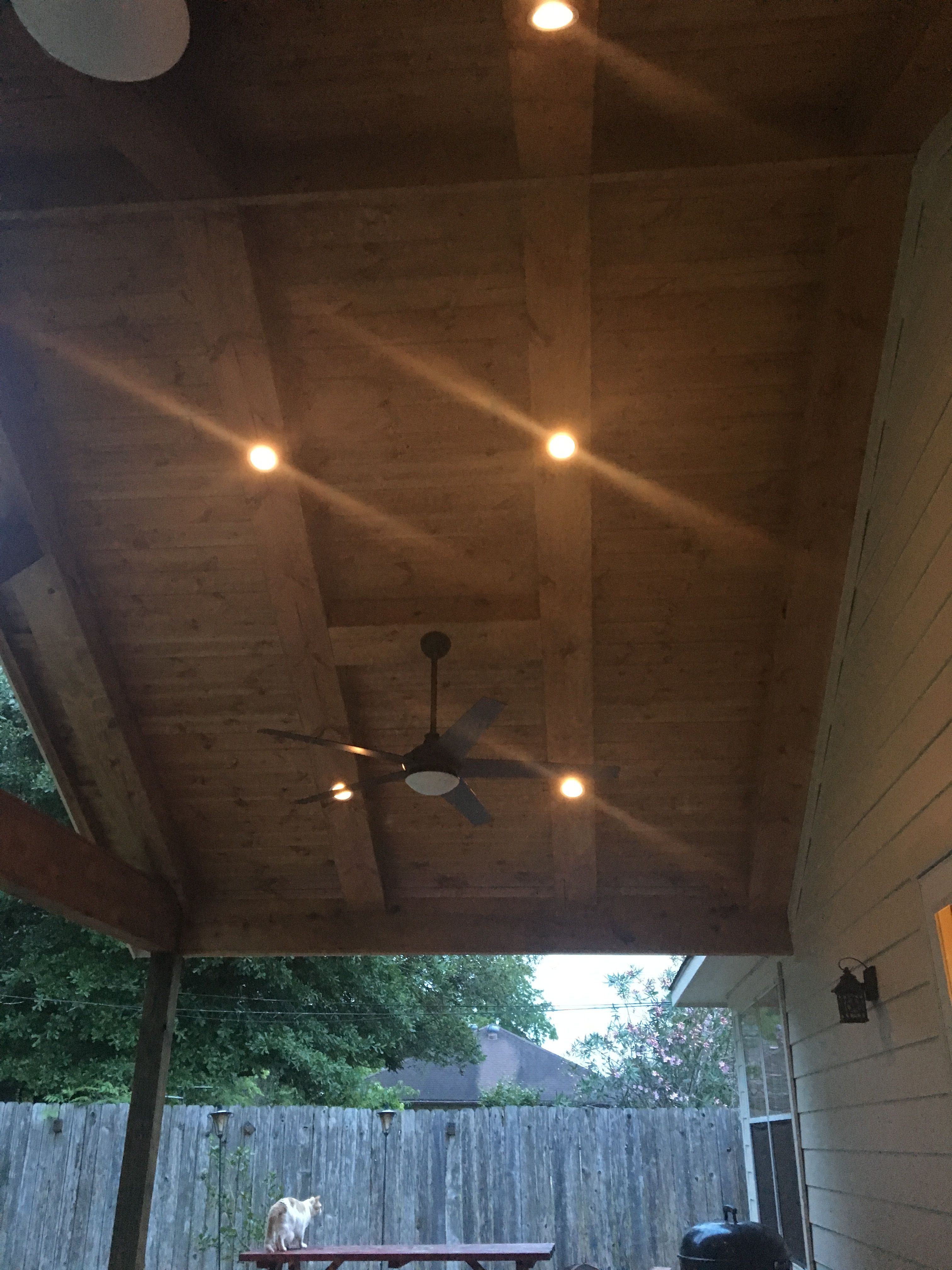 can lights under covered patio can