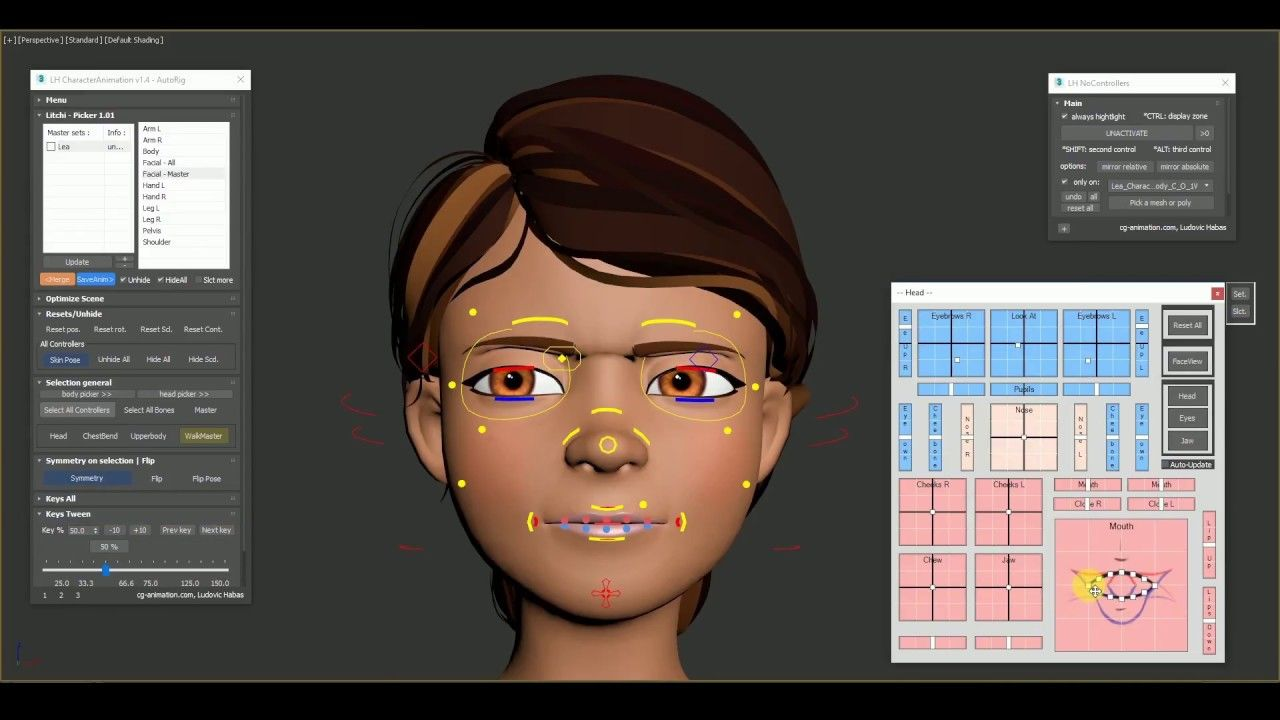 Cg Animation Facial Rigging 3ds Max Animation 3d Computer