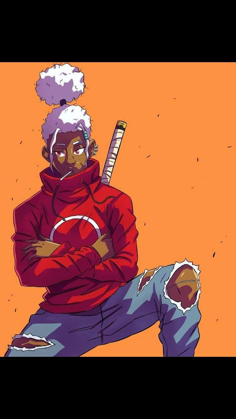 Pin By Djois On Wallpaper Black Anime Characters Anime Character Design Black Cartoon