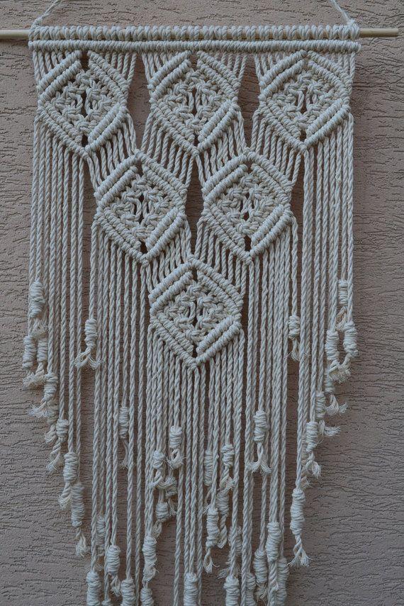 Macrame moderno decorativo hogar del colgante de pared por Mrcolmar - tapices modernos