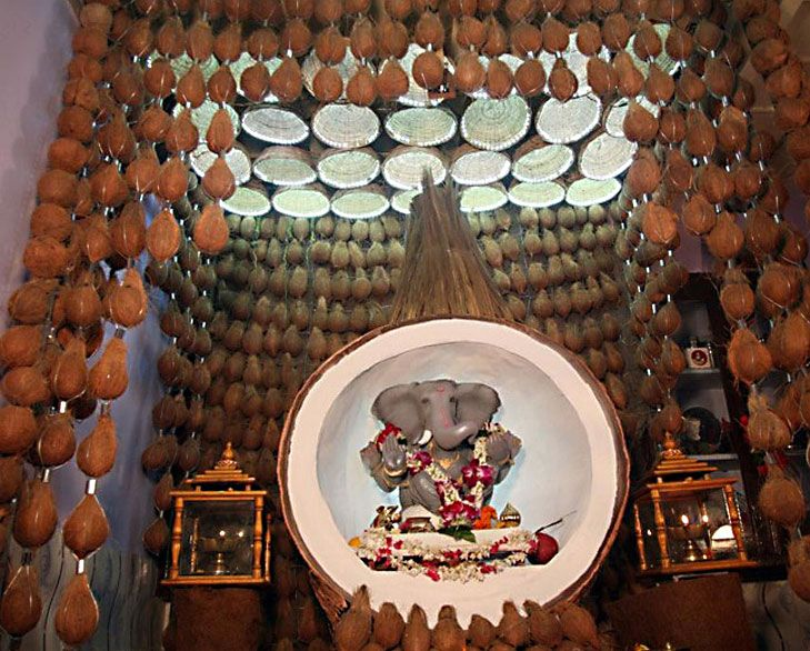 Ganpati Decoration Ideas For Home Decoration And Decorating