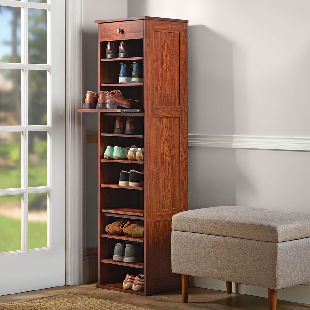 The Slide Out Shoe Storage Tower For