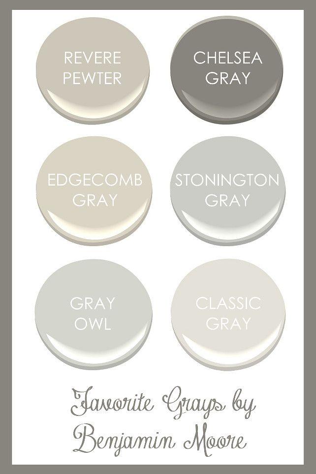 Favorite Grays By Benjamin Moore Revere Pewter Chelsea Gray