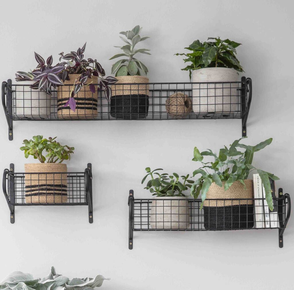 Shelf Hanging Basket In 2020 Wire Basket Storage Wall Basket Storage Hanging Wall Baskets