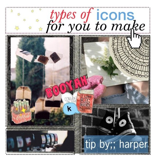 """types of icons for you to make//"" by the-courage-of-stxrs ❤ liked on Polyvore featuring art"