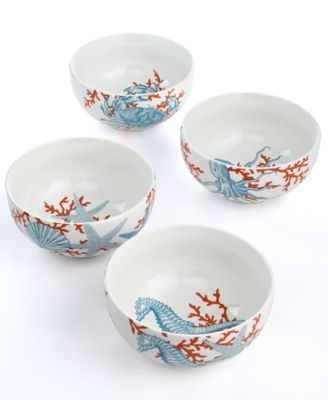 222 Fifth Dinnerware Set of 4 Coastal Life Assorted Ice Cream Bowls  sc 1 st  Pinterest & 222 Fifth Dinnerware Set of 4 Coastal Life Assorted Ice Cream Bowls ...