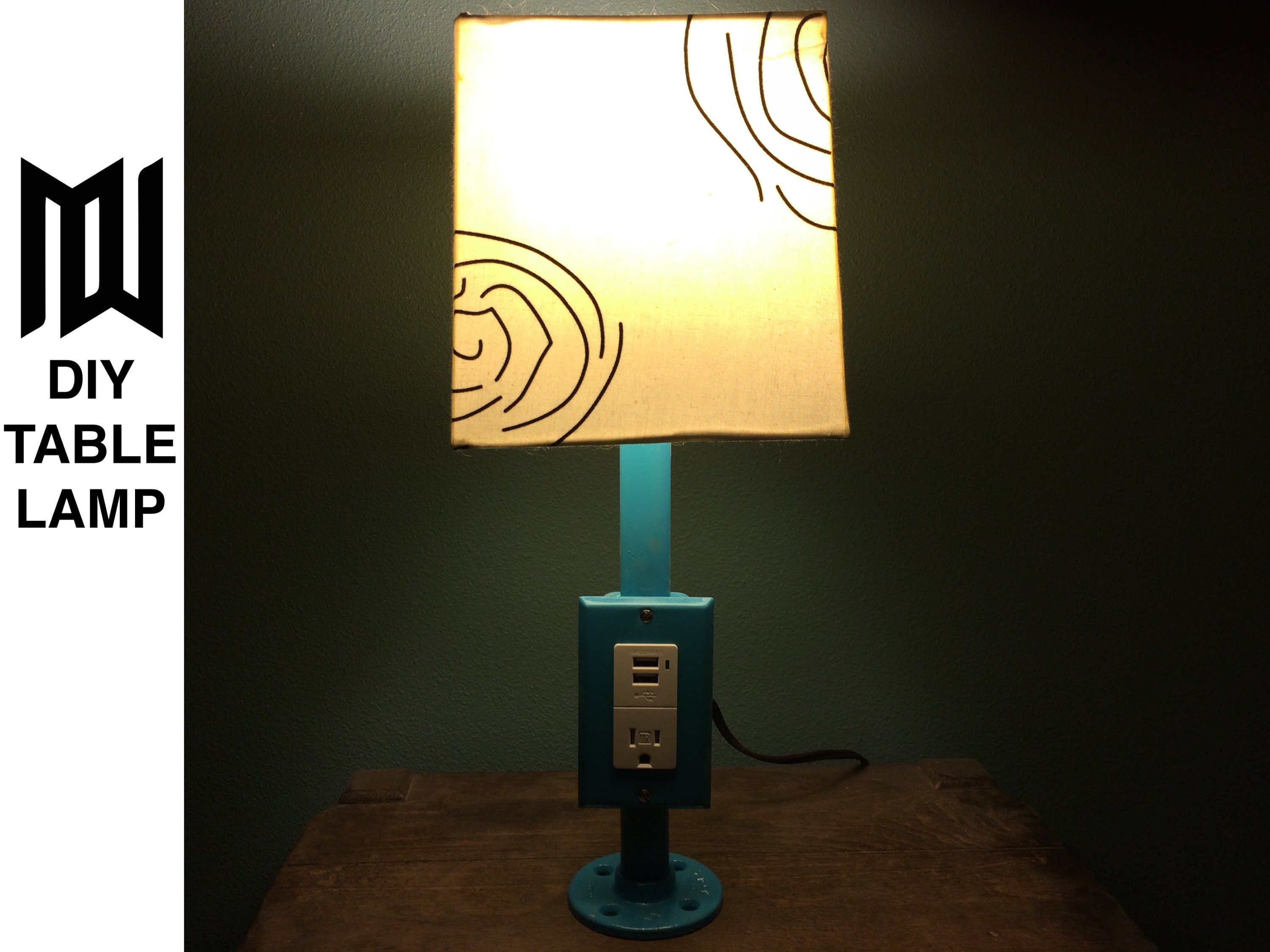 Make in a Minute - Build an Easy DIY Outlet Lamp with USB Charging ...