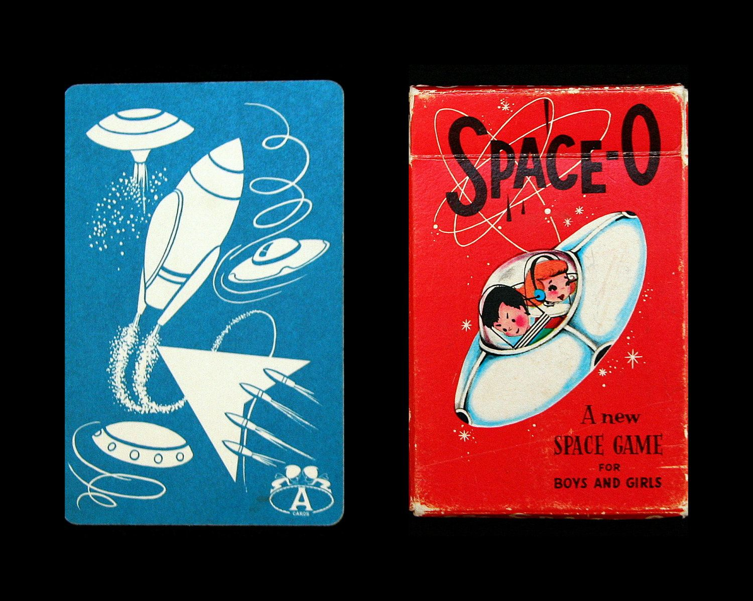 Vintage 1950s Space O Card Game, Complete Deck of 40 Cards