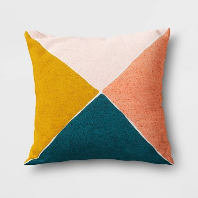 Outdoor Throw Pillow Blue Yellow Coral Project 62 Blue Throw Pillows Coral Throw Pillows Outdoor Throw Pillows