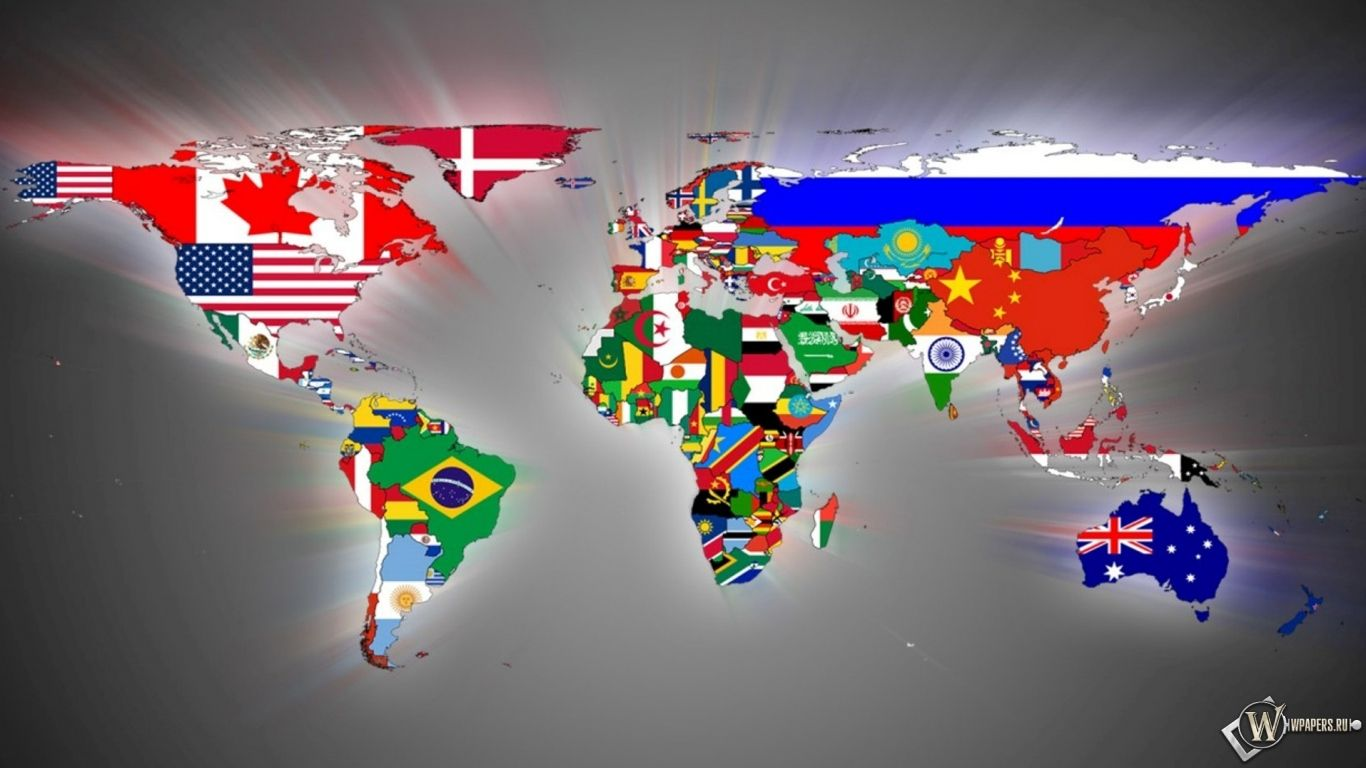 1366x768 world map flags wallpaper gumiabroncs Images