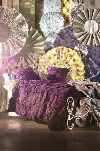 ANTHROPOLOGIE Rosette TWIN Quilt by Lazybones Purple Bedding