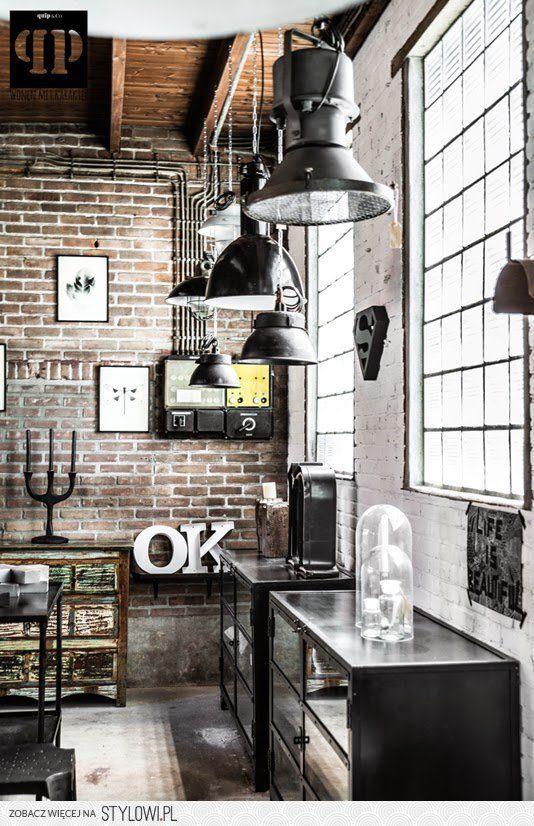 brick wall/ltg Industrial look Pinterest Industrial, Cosas de - paredes de cemento