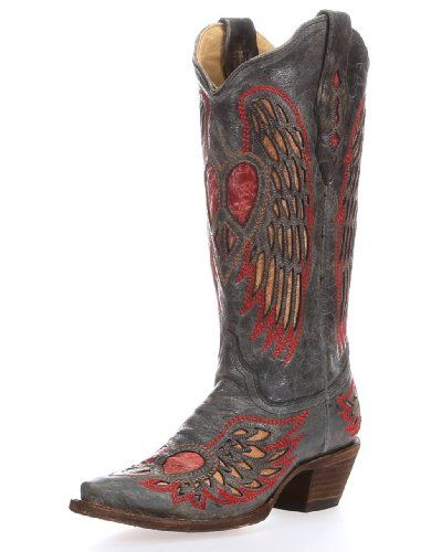 Corral Boots Women's Antique Saddle Angle Wing Heart Black Leather Cowgirl Boots 9.5 M Corral Boots,http://www.amazon.com/dp/B009AGM97C/ref=cm_sw_r_pi_dp_1s9Ksb0Q2PX759BW