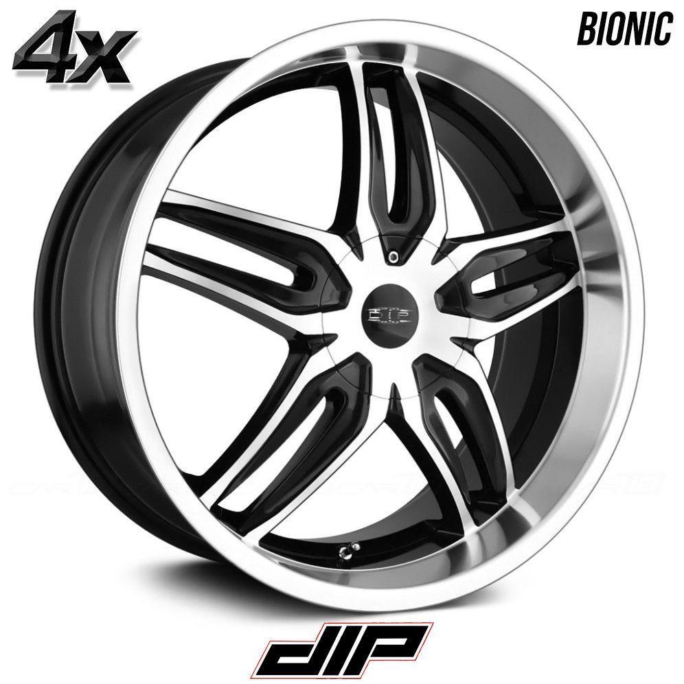 4 Dip Bionic 20 X8 5 5x114 3 Black Ofst 40mm 20inch Rims 20x8 5 Wheels Wheel Dodge Charger Awd Black Wheels