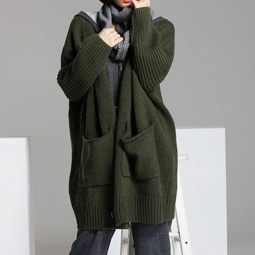 Chang Yun Women/'s Waffle Knit Cardigan Open Sweaters Kimono Lightweight Long Sleeve Oversized Coat Outwear