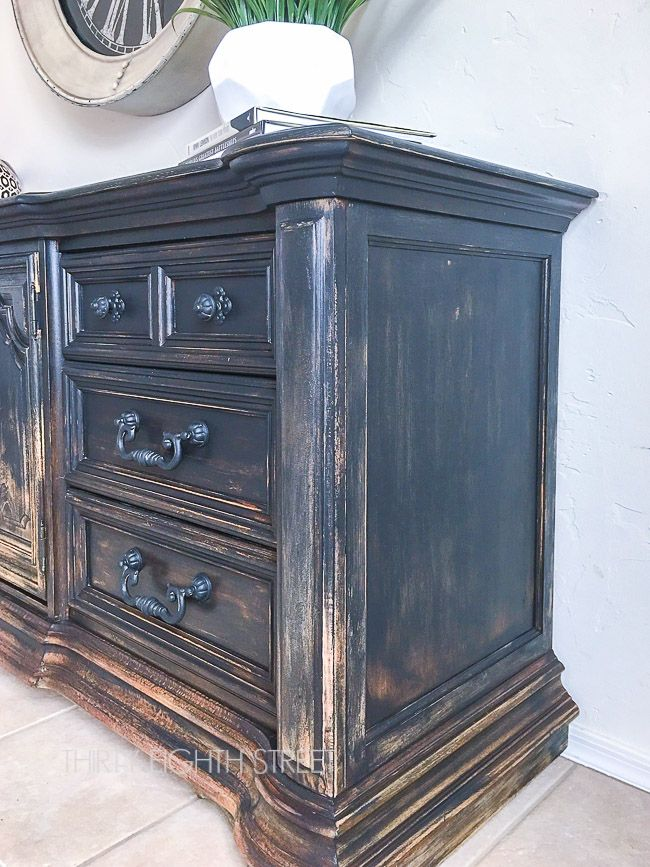 blending paint colors, gradual distressed look, farmhouse furniture,  naturally worn furniture, ombre painting technique - Balayage Inspired DIY Painted Furniture Painting Furniture