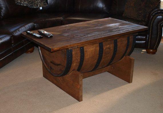 BOURBON BARREL COFFEE table Barrel coffee table Man room and Bourbon