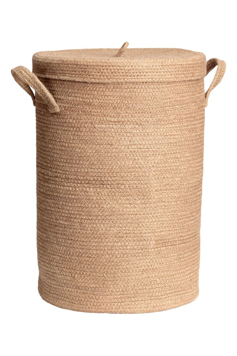 Jute Laundry Basket With Lid In 2020 Laundry Basket With Lid