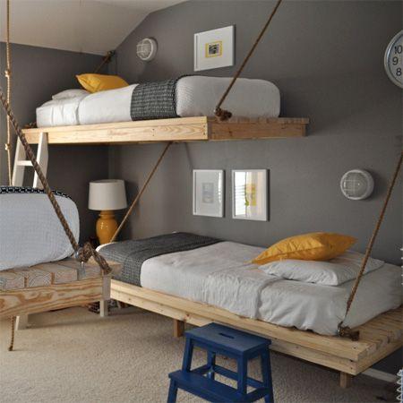 hanging loft bed DIY. My summer project