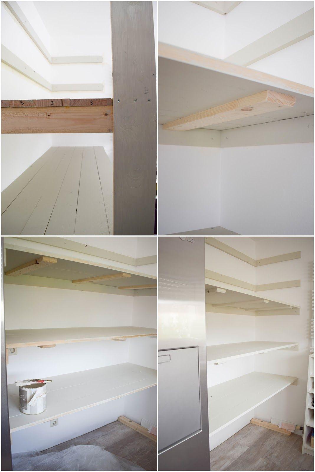 DIY Regal Vorratsregal selber bauen kueche organisieren vorratsraum ...