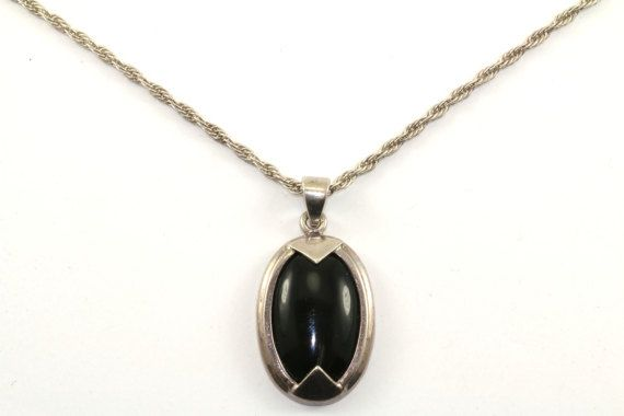 Vintage Italy Milor Oval Shape Onyx Twisted Chain by GabrielStar