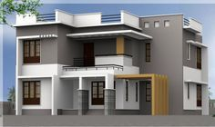 small box type home elevation elevation in 2019 kerala house rh pinterest com