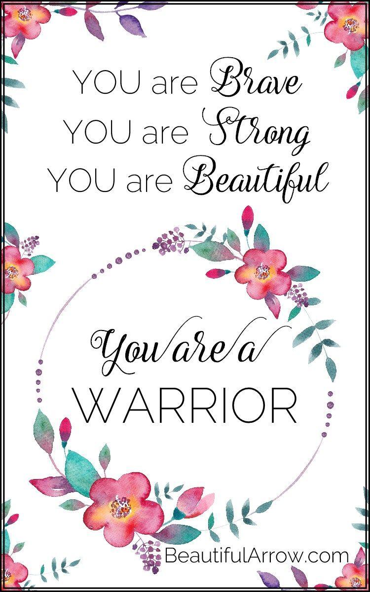 Floral Warrior Motivational Printable   BeautifulArrow   Positive ...