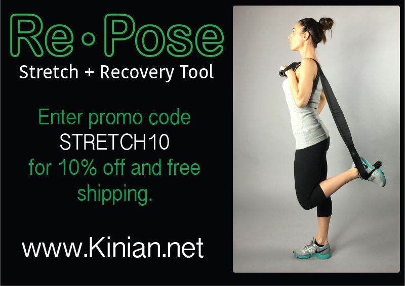 Kinian Elite Recovery is offering all Pinterest fitness enthusiasts 10% off of the versatile stretching and recovery tool! Just use promo code stretch10!!! #reinventingrecovery #getfit #stretch #healthylifestyle #avidrunners #athletes #trainers