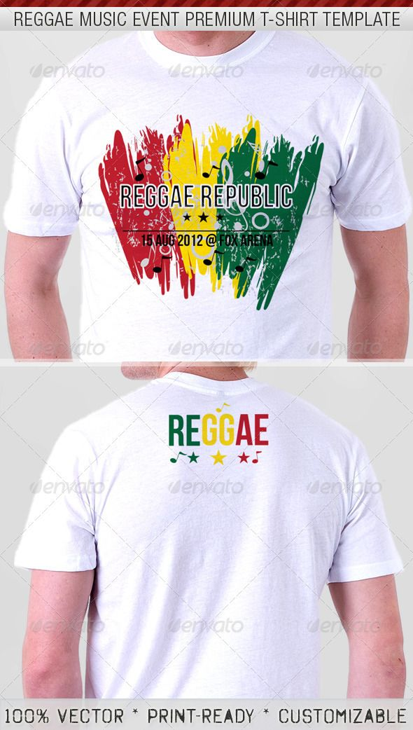 8c10ed9e Reggae Music Show Premium T-Shirt Template - DOWNLOAD NOW | T-SHIRT ...
