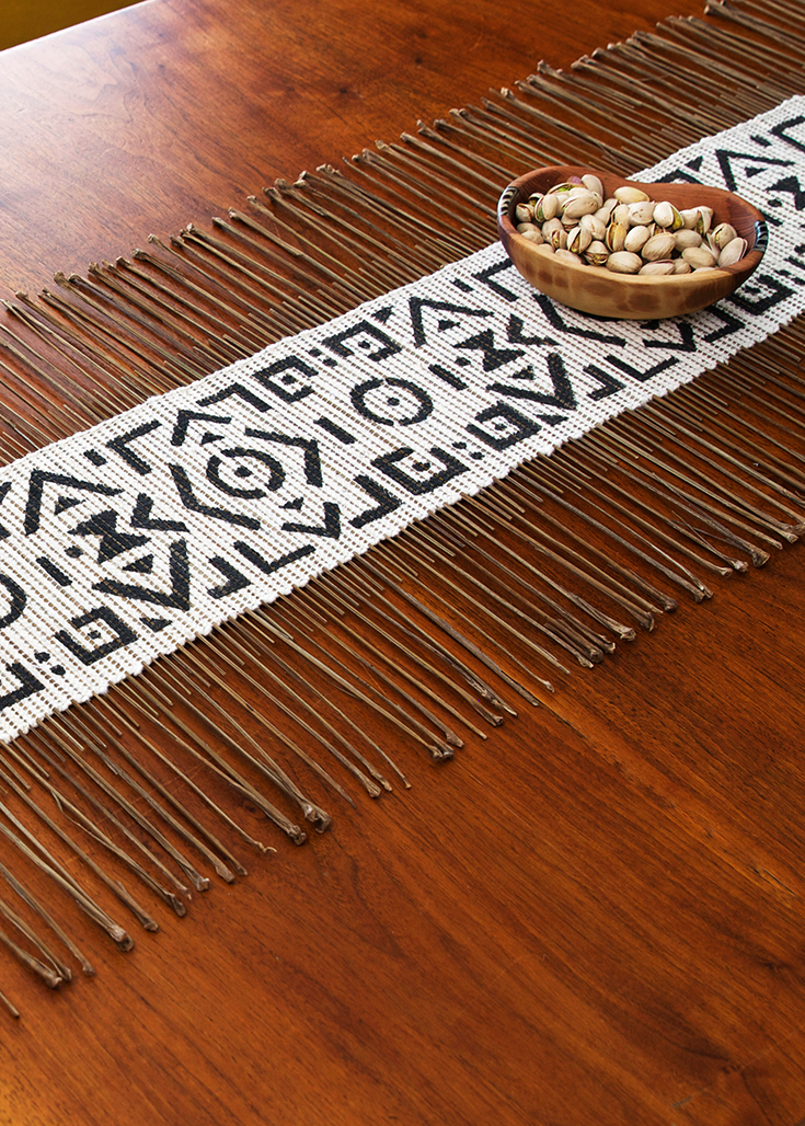 Geometric African Twig Amp Mudcloth Table Runner African