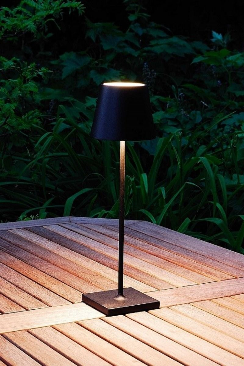 Elipta Rechargeable Battery Outdoor Led Table Lamp Black Led Table Lamp Cordless Table Lamps Dining Table Lamps