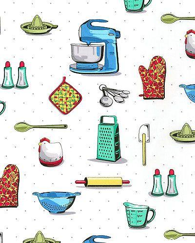 Kitchen Ready - Retro Cooking Pleasures - White