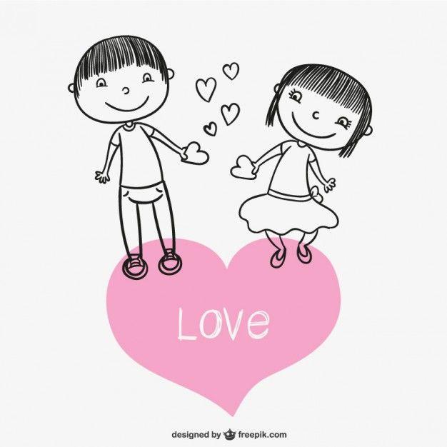 Dibujo de pareja enamorada  Descargar Vectores gratis  abi