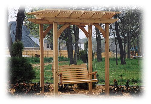 Free Standing Porch Swing Instant Front Porch Outside