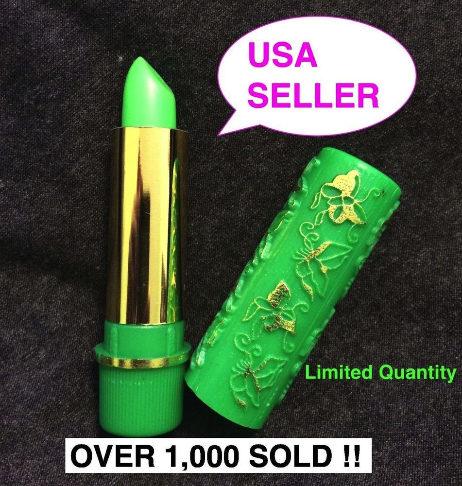 1 HARE MAGIC MOROCCAN CHANGE COLOR GREEN PINK HENNA MOOD LIPSTICK AUTHENTIC USA #Hare