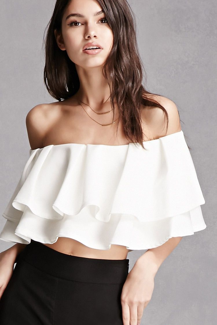 52e4c43c324 Off-the-Shoulder Crop Top   Style & Fashion in 2019   Fashion, Bare ...